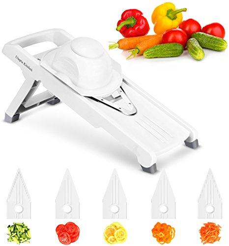 Utopia Kitchen - 5 Blade Adjustable Mandolin Slicer - Mandolin Cutter - Julienne Vegetable Slicer - Vegetable Grater - Vegetable Dicer