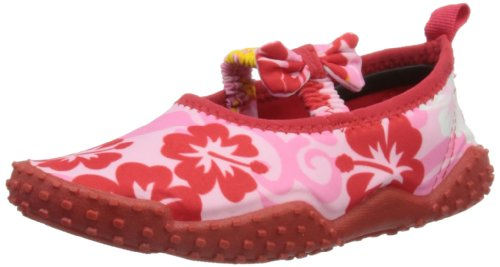 Playshoes Girl's UV Protection Hawaii Collection Aqua Swimming / Beach Water Shoes (2 M US Little Kid)