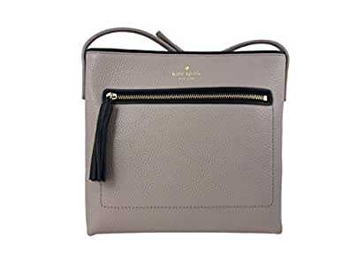 Kate Spade New York Dessi Chester Street Leather Crossbody Bag in Almond/Black