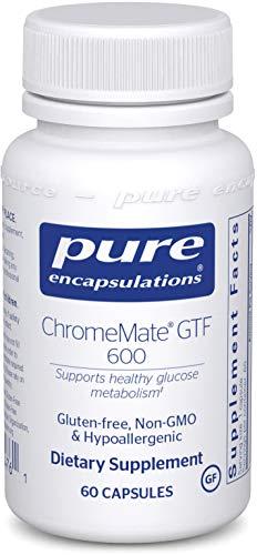 Pure Encapsulations - ChromeMate GTF 600 - Unique Chromium Polynicotinate Supplement - 60 Capsules