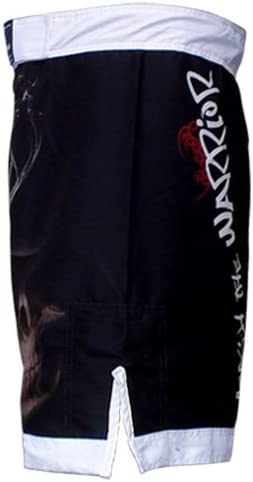 TurnerMAX MMA Shorts Black//White Martial Arts Clothing