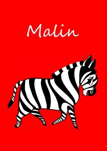 Malbuch/Notizbuch/Tagebuch - Malin (rot): A4 - blanko - Zebra