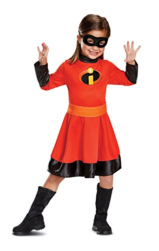 Disguise Violet Classic Toddler Child Costume, Red, Large/(4-6x) -