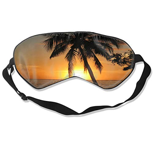 Eye Mask Sunset with Coconut Palm Tree Customized Eyeshade Sleep Mask Soft for Sleeping Travel for Girls]()