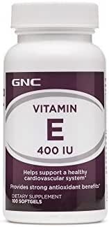 GNC Vitamin E 400 IU, 100 Softgels, Supports a Healthy Cardiovascular System