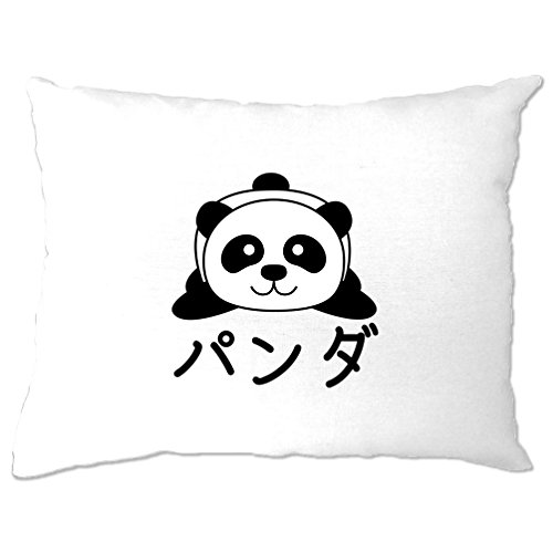 Panda Japanese Characters Cute Kawaii Adorable Baby Panda Cartoon Anime Cosplay TV Episodes Pillow Case Cool Funny Gift Present Home Bedroom Bed Father Ted Christmas Episode