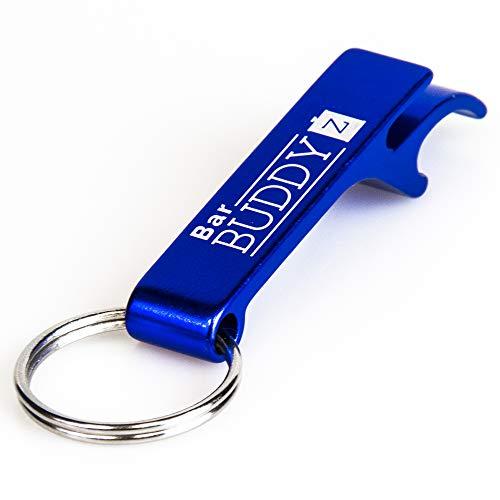 Keychain Bottle Opener - bartender bottle opener - Best Aluminum Bottle/Can Opener - Compact, Versatile & Durable - Vibrant Colors - Premium Keyring Bottle Opener - Ergonomic Design Royal Blue