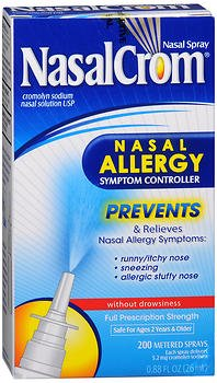 NasalCrom Nasal Allergy Symptom Controller Spray - 0.88 oz, Pack of (Allergy Symptom Controller Nasal Spray)