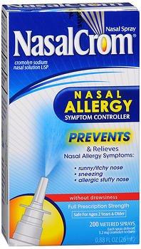 NasalCrom Nasal Allergy Symptom Controller Spray - 0.88 oz, Pack of 5