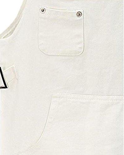 Blanco AnyuA Falda Cortos Grande De Vestido Tirantes De Talla Mujer para Peto Denim Vestir OwqrxEtO4