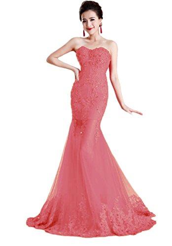 Coral Mujer Rosa Vestido Para Ajustado Vimans 46 qtXRv1wx