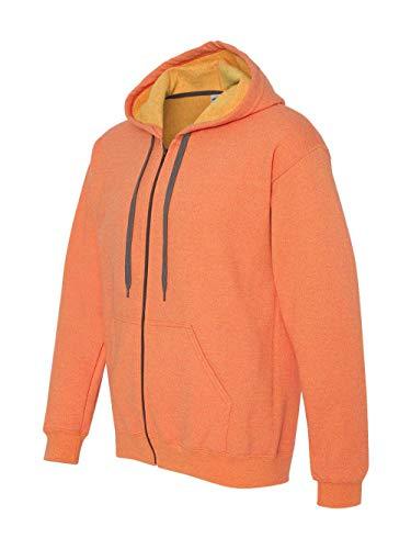 Gildan Heavy Blend Mens Vintage Full Zip Hooded Sweat / Hoodie (XXL) (Sunset)