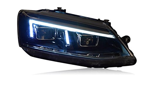 GOWE Car Styling For For vw jetta headlights For VW jetta MK6 head lamps with LED guide car styling bi xenon lens parking Color Temperature:5000k;Wattage:35w 0