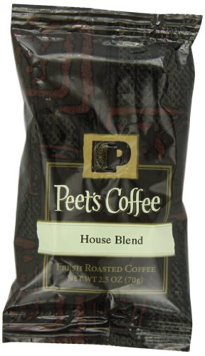 Peet's Coffee Bordello Blend Ground Coffee, Dark Roast, 2.5-Ounce Portion Packs (Pack of 18)