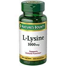Nature's Bounty L-Lysine 1000 mg Tablets 60 ea (Pack of 4)