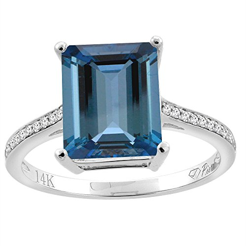 14k Octagon Gemstone Ring - 3
