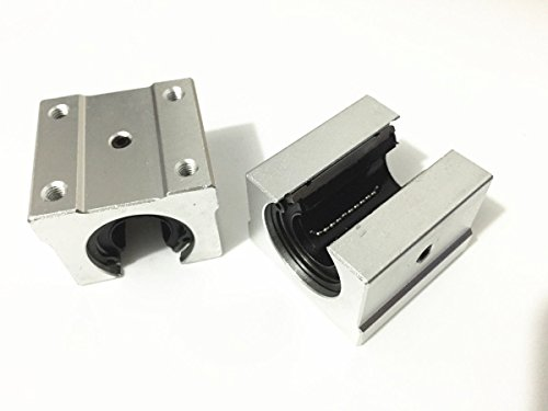 Letool2pcs SBR25 SBR25UU Linear Bearing Pillow Block 25mm Open Linear Bearing Slide Block CNC Router Parts