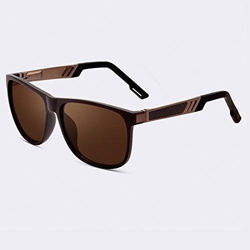 Vintage Gafas Gafas C02 gafas TIANLIANG04 hombres polarizadas C03 sol UV400 de cuadrada clásico macho lente HD n7TRTAw