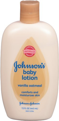 Johnson's Baby Lotion, Vanilla Oatmeal, 15 Ounce (Pack of 2)