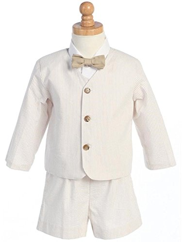 Eton Seersucker Suit w/Jacket, Shorts, Shirt, Bow Tie ()