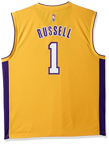 Lakers Jersey Adidas (NBA Men's Los Angeles Lakers D'Angelo Russell Replica Player Home Jersey, X-Large, Yellow)