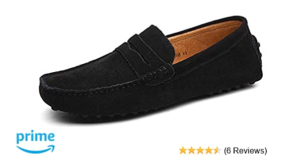 Amazon.com | PPXID Mens Suede Leather Slip On Loafers Casual Shoes | Loafers & Slip-Ons