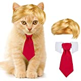 Cat Dog Costume- Cute Style Pet Costume Dog Wig Pet Cosplay Clothes & Hair Accessories Pet Head Wear Apparel Toy for Christma