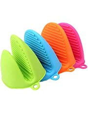 Kitch N' Wares Silicone Pot Holder - Set of 4 Durable Pinch Mitts in Vibrant Color - for Hot Pans and Pots, Kitchen Accessory, Housewarming, Hand Protector, Cooking…