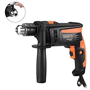 Hammer Drill, Tacklife 1/2In. 2800rpm Dual Drills Mode, Variable Speed Trigger, 360° Reversible Handle, Speed Setting Knob for Concrete, Wood, Steel, Masonry - PID01A