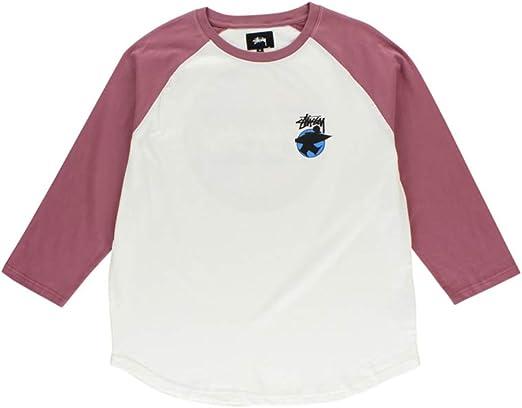 Stussy Surfman Dot Raglan Jersey Camiseta Manga Larga Hombre Blanco L (Large): Amazon.es: Ropa y accesorios