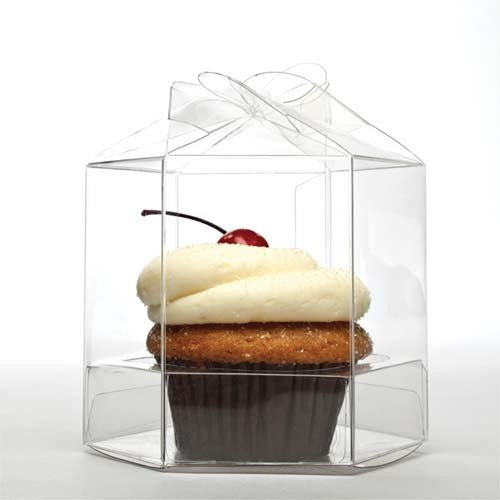 ClearBags CBS238 Twist Top Cupcake Box Set for Single Standard Cupcakes, Clear (Pack of 100) (Single Box 100 Cupcake)