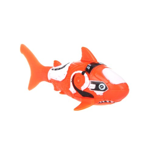 KINGZER Shark Pattern Water Activated Electronic Lifelike Swimming Fish Kids Toy Red from KINGZER