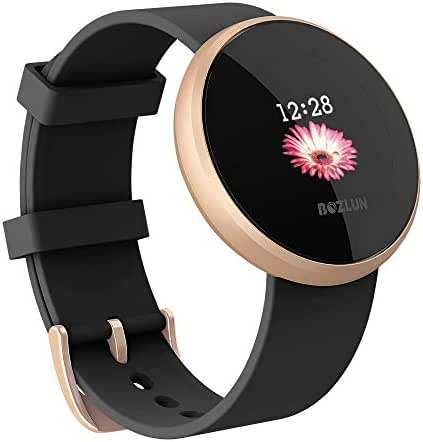 Women's Smart Watch, Fitness Tracker Smart Watch for Women, Color Touch Screen, Fitness Sleep Monitor Waterproof Call Reminder with Text GPS Auto Wake Screen Smartwatches for iPhone Android