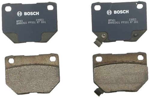 Bosch BP461 QuietCast Premium Semi-Metallic Disc Brake Pad Set For 1990-1996 Nissan 300ZX and 2006-2007 Subaru Impreza; Rear