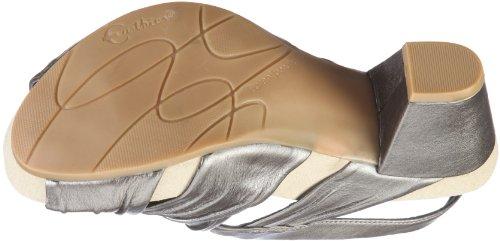 Earth Earthies Capri schwarz 5300002 - Zapatos de vestir para mujer Plateado