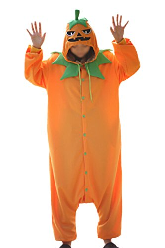 [WOTOGOLD Vegetable Cosplay Costume Pumpkin Unisex Adult Pajamas Halloween Party Orange] (Adult Pumpkin Halloween Costumes)
