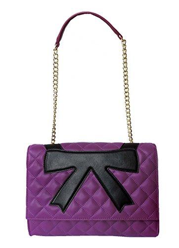 Schultertasche Schultertasche Moschino Boutique purple Boutique Moschino SIdBqB