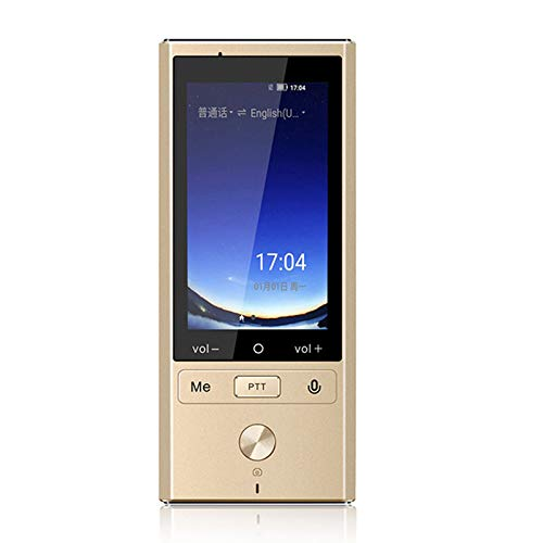 CICIN 75 Language Translation Translator, Supports 8 Countries Offline 4G +WiFi Intelligent Voice Photo Translation Machine Device,Gold