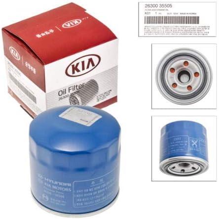 Plug Gasket For Hyundai//Kia Compatible with 26300-35505 26300-35504 26300-35503 Genuine OEM Kia Oil Filter 26300-35505
