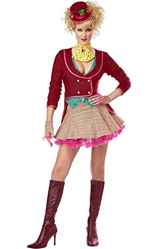 [California Costumes Women's The Mad Hatter Adult, Multi, Medium] (Female Mad Hatter)