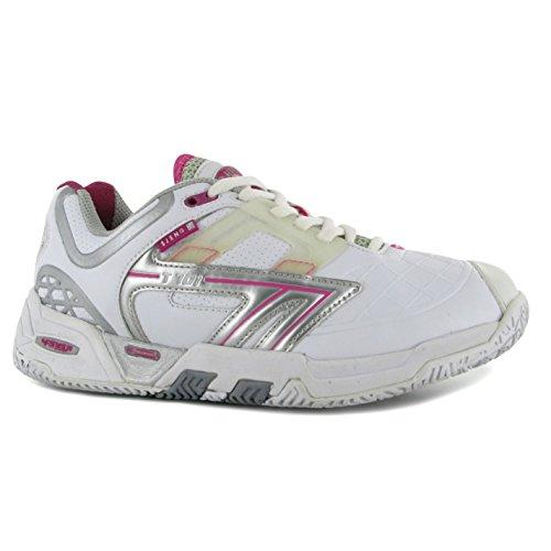 Hi-Tec T701ws Chaussures de squash pour femme Blanc Sports Baskets Sneakers Chaussures
