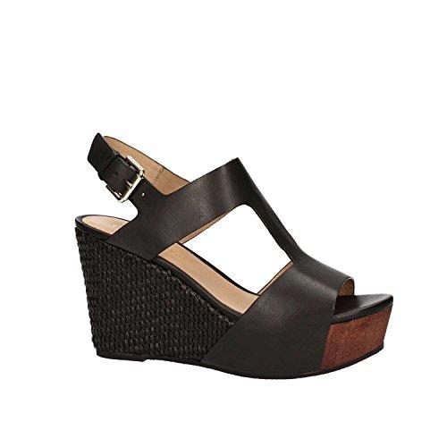 CafèNoir Mujer Hd127-010 Nero zapatos con correa