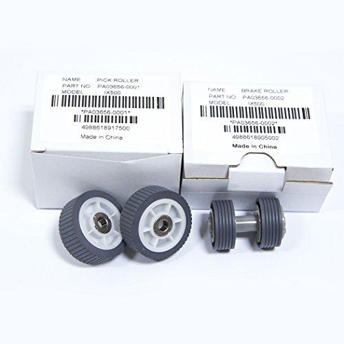 YANZEO PA03656-0001 PA03656-E958 Scanner Brake PickUp Roller Kit For Fujitsu ScanSnap iX500, iX500 Deluxe by Yanzeo (Image #6)