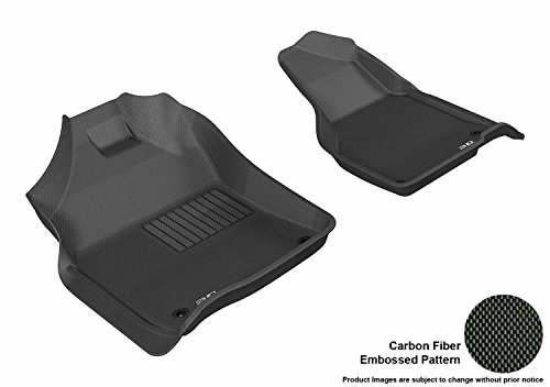 3D MAXpider Front Row Custom Fit All-Weather Floor Mat for Select Dodge Ram Models - Kagu Rubber ()