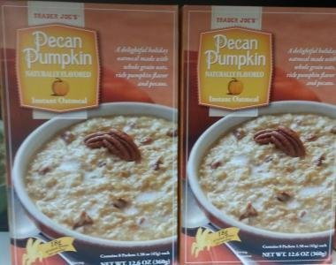 - Trader Joe's Pecan Pumpkin Instant Oatmeal (Naturally Flavored) - 2 Boxes for aTotal of 16 Packets