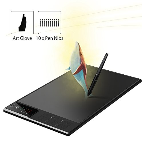 Huion WH1409 V2 Wireless Graphics Drawing Pen Tablet with 12