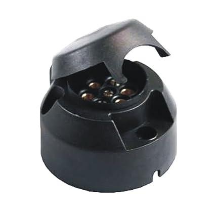 trailer plug socket 12v 7 pin female connection plastic socket plugtrailer plug socket 12v 7 pin female connection plastic socket plug car protection cover accessory anhängerdose
