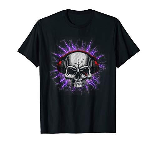 Skull LED Sound T-Shirt For Party -