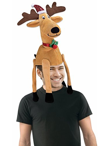 Forum Novelties Men's Novelty Reindeer Hat, Multi, 1 Pack