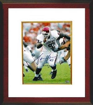 Autographed Tommie Harris Picture - Oklahoma Sooners Lombardi 03 8x10 Custom  Framed - Autographed College Photos 2f445da5a